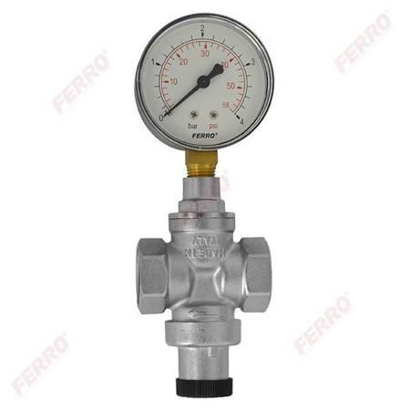 Ferro reduktor ciśnienia 1/2- standard z manometrem