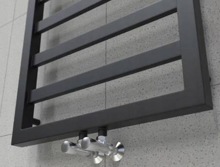 Grzejnik łazienkowy Natsumi 1240x530 czarny