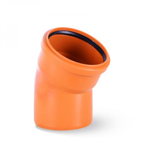 Kolano PCV 110 kąt 67 stopni kanalizacyjne pomarańczowe